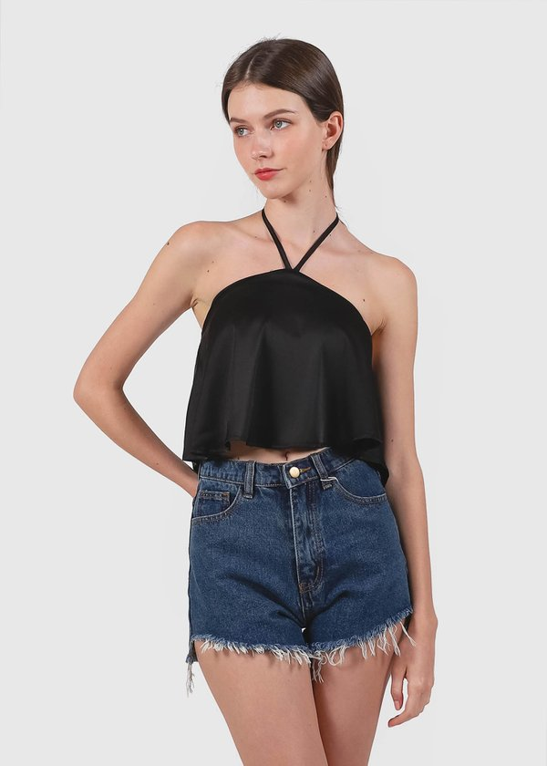 Cotton Candy Halter Top in Black #6stylexclusive